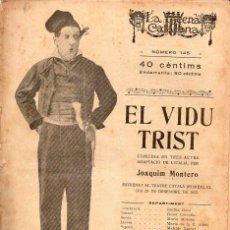 Libros antiguos: ISCLE SOLER : EL VIDU TRIST (ESCENA CATALANA, 1923). Lote 117759267