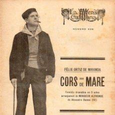 Libros antiguos: FÉLIX ORTIZ DE MIRANDA : CORS DE MARE (ESCENA CATALANA, 1927). Lote 117759803