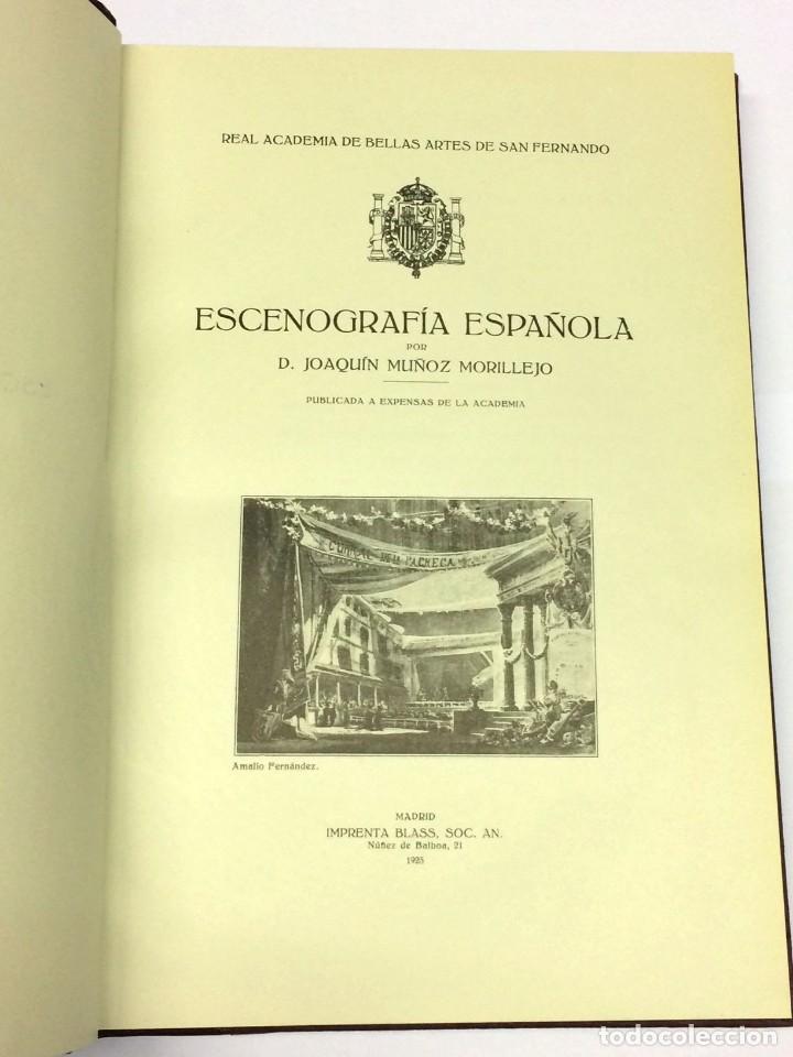 AÑO 1923 - MUÑOZ MORILLEJO, JOAQUÍN. ESCENOGRAFÍA ESPAÑOLA. (Libros antiguos (hasta 1936), raros y curiosos - Literatura - Teatro)
