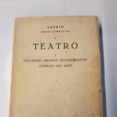 Libros antiguos: AZORÍN - OBRAS COMPLETAS I - TEATRO - 1929. Lote 118571374