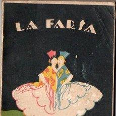 Libros antiguos: HNOS. ÁLVAREZ QUINTERO : CANCIONERA (LA FARSA, 1928). Lote 119116011
