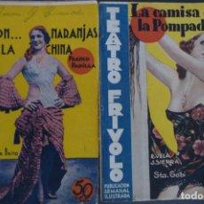Libros antiguos: TEATRO FRIVOLO, Nº 2 Y 26, AÑOS 1935-36. CORRECTA CONSERVACION. EDIT. CISNE. Lote 122771203