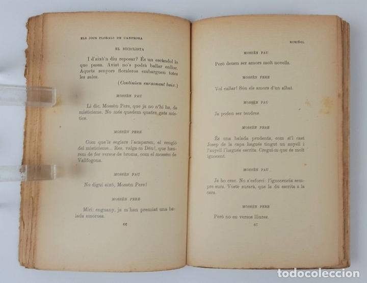 Libros antiguos: ELS JOCS FLORALS DE CANPROSA. SANTIAGO RUSIÑOL. 3º EDICIÓN. BARCELONA. - Foto 7 - 124077879