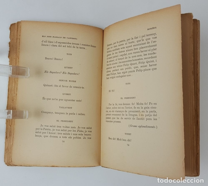 Libros antiguos: ELS JOCS FLORALS DE CANPROSA. SANTIAGO RUSIÑOL. 3º EDICIÓN. BARCELONA. - Foto 8 - 124077879