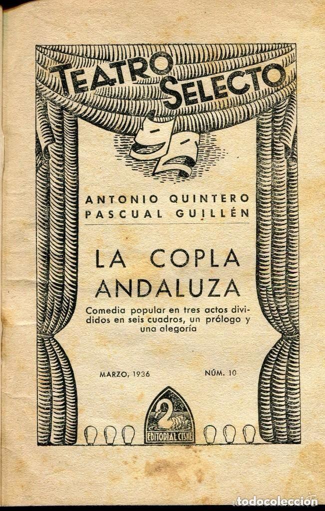 Libros antiguos: LA COPLA ANDALUZA-- A. QUINTERO- P GUILLÉN- 1936 - Foto 2 - 165049908