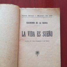 Libros antiguos: LA VIDA ES SUEÑO, CALDERÓN DE LA BARCA. Lote 126849500