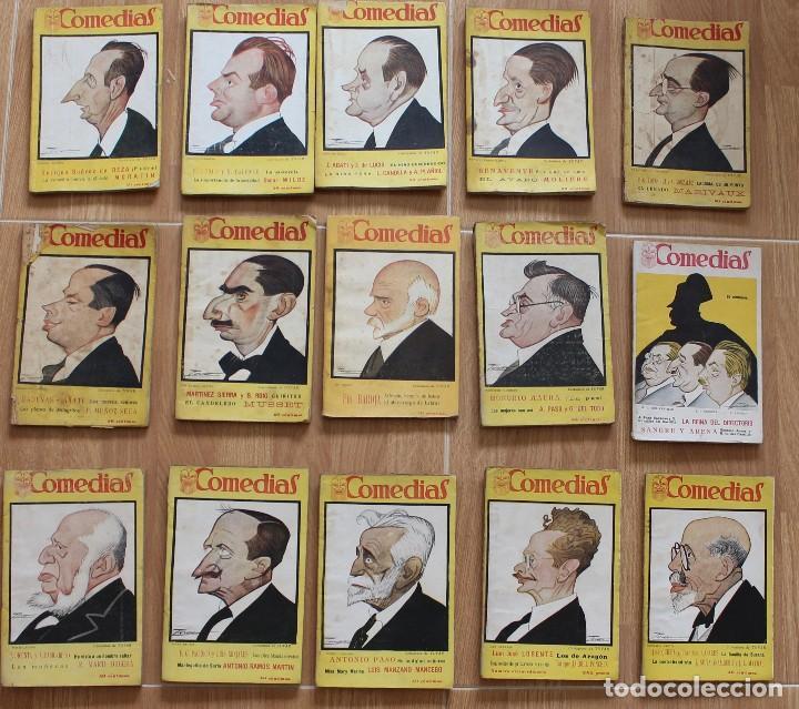 COMEDIAS -REVISTA SEMANAL- 15 NÚMEROS: 47-48-49-5051-52-53-26-66-67-68-69-70-71-72- 1927 (Libros antiguos (hasta 1936), raros y curiosos - Literatura - Teatro)
