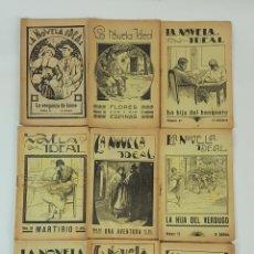 Libros antiguos: LA NOVELA IDEAL. 9 VOLÚMENES. LA REVISTA BLANCA. BARCELONA. CIRCA 1930.. Lote 128250635