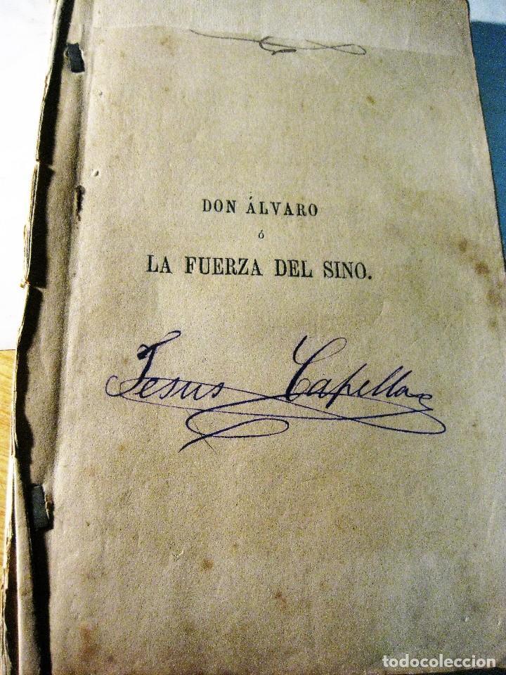 DON ALVARO O LA FUERZA DEL SINO . ANGEL DE SAAVEDRA DUQUE DE RIVAS 1879 ALGUN DEFECTO (Libros antiguos (hasta 1936), raros y curiosos - Literatura - Teatro)