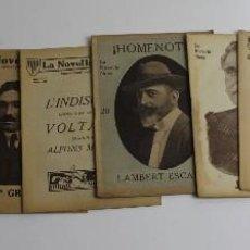 Libros antiguos: RV-141. LOT DE 8 NUMEROS DE LA NOVEL.LA NOVA, PRINCIPIS S.XX.. Lote 129083171