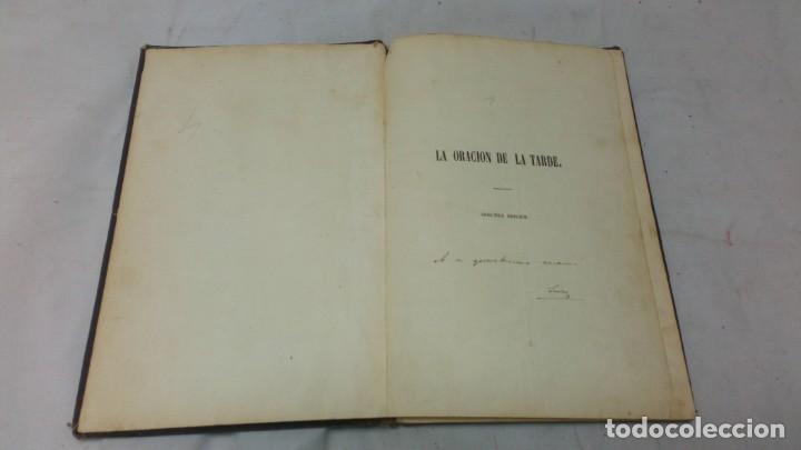 LA ORACIÓN DE LA TARDE, LUIS MARIANO DE LARRA, TEATRO, 1858, AUTOGRAFIADO POR EL AUTOR (Libros antiguos (hasta 1936), raros y curiosos - Literatura - Teatro)