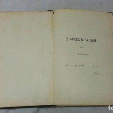 Libros antiguos: LA ORACIÓN DE LA TARDE, LUIS MARIANO DE LARRA, TEATRO, 1858, AUTOGRAFIADO POR EL AUTOR. Lote 130619198
