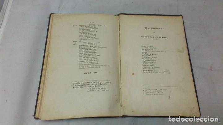 Libros antiguos: La oración de la tarde, Luis Mariano de Larra, teatro, 1858, autografiado por el autor - Foto 5 - 130619198
