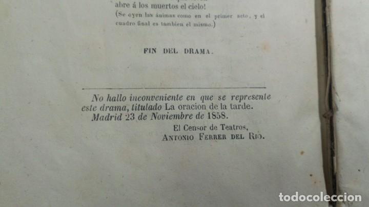 Libros antiguos: La oración de la tarde, Luis Mariano de Larra, teatro, 1858, autografiado por el autor - Foto 6 - 130619198