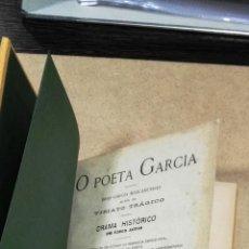 Libros antiguos: O POETA GARCIA: BRAS GARCIA MASCARENHAS AUTOR DO VIRIATO TRAGICO : DRAMA HISTORICO EM CINCO ACTOS. Lote 131284783