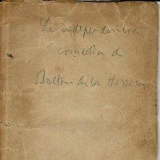 Libros antiguos: LA INDEPENDENCIA, POR MANUEL BRETÓN DE LOS HERREROS. AÑO 1844. (3.6). Lote 132352430