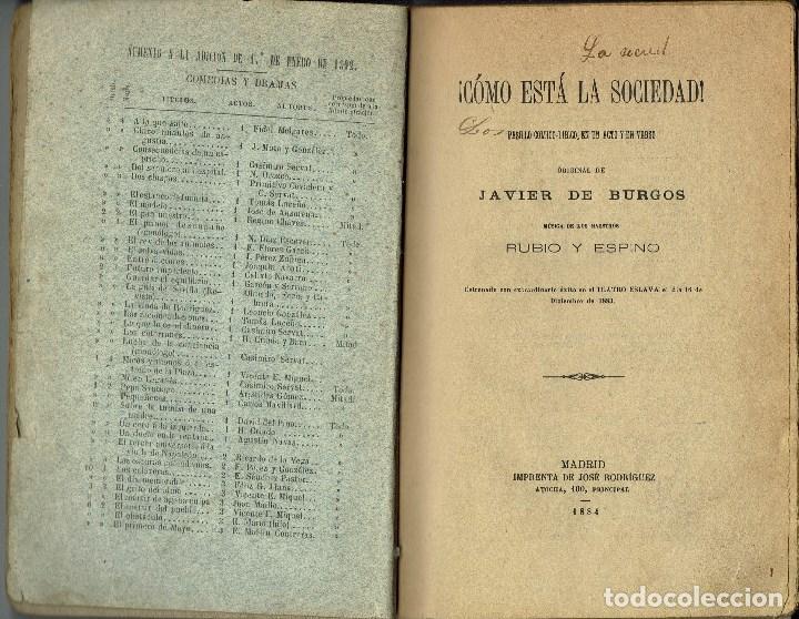 Libros antiguos: ¡CÓMO ESTÁ LA SOCIEDAD!, POR JAVIER DE BURGOS. AÑO 1884. (3.6) - Foto 3 - 132352742