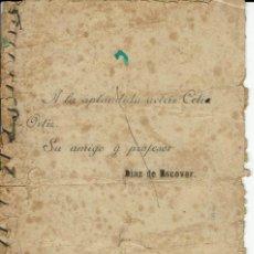 Libros antiguos: ALONDRA DE LOS VALLES, MONÓLOGO ORIGINAL Y EN VERSO, POR NARCISO DÍAZ DE ESCOVAR. AÑO 1908 (1.7). Lote 133017190