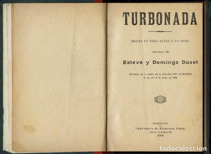 TUMBONADA, PER ESTEVE Y DOMINGO DUCET. AÑO 1902. (1.7) (Libros antiguos (hasta 1936), raros y curiosos - Literatura - Teatro)