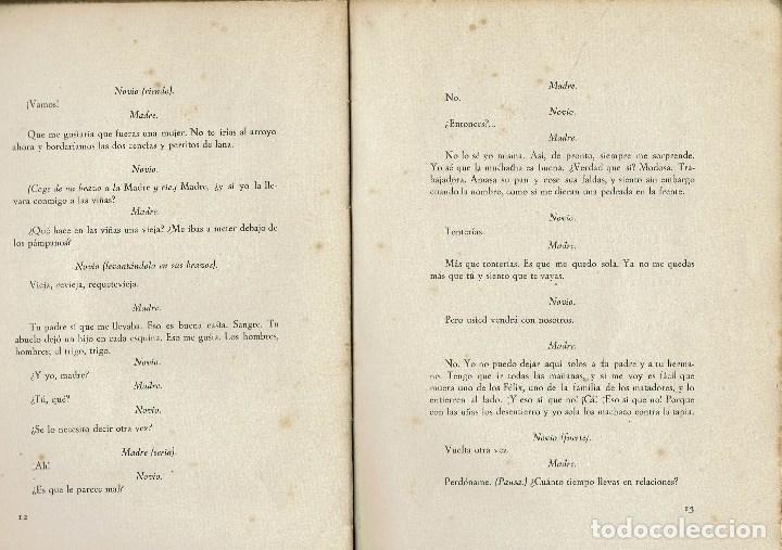 Libros antiguos: BODAS DE SANGRE, POR FEDERICO GARCÍA LORCA. AÑO 1936. (4.6) - Foto 2 - 133428162