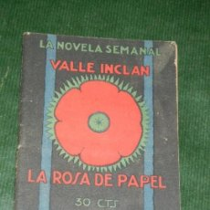 Libros antiguos: LA ROSA DE PAPEL Y LA CABEZA DEL BAUTÍSTA (NOVELAS MACABRAS), RAMÓN DEL VALLE INCLÁN 1924. Lote 133517262