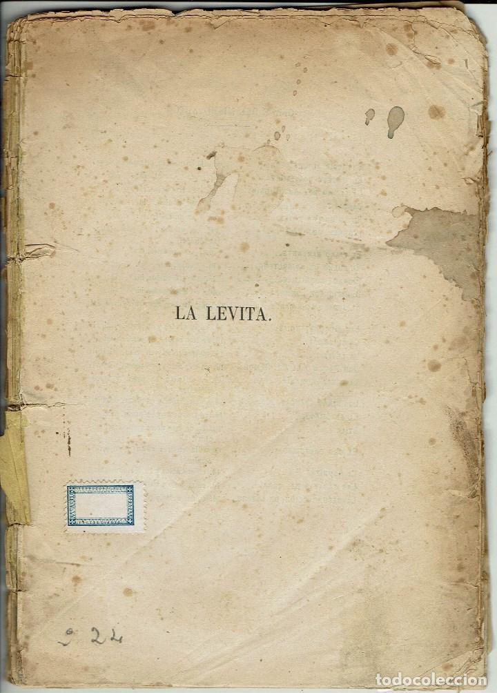 LA LEVITA, POR DON ENRIQUE GASPAR. AÑO 1878. (10.6) (Libros antiguos (hasta 1936), raros y curiosos - Literatura - Teatro)