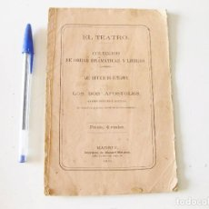 Libros antiguos: LOS PRÓFUGOS DE ULTRAMAR O LOS DOS APÓSTOLES. MADRID 1872.. Lote 133572634