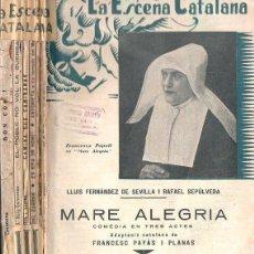 Libros antiguos: SEIS NÚMEROS LA ESCENA CATALANA (1935) DIEZ OBRAS.. Lote 133636302