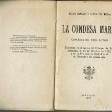 Libros antiguos: LA CONDESA MARÍA, POR JUAN IGNACIO LUCA DE TENA. AÑO 1925. (2.7). Lote 134065090