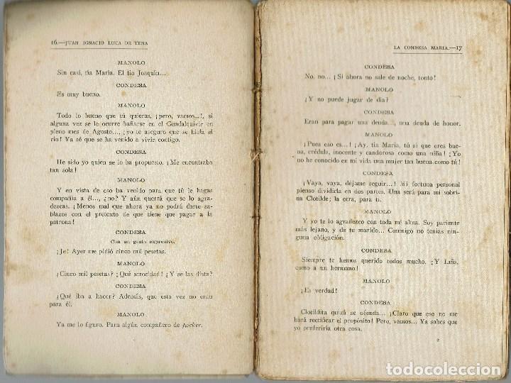 Libros antiguos: LA CONDESA MARÍA, POR JUAN IGNACIO LUCA DE TENA. AÑO 1925. (5.6) - Foto 3 - 134065090