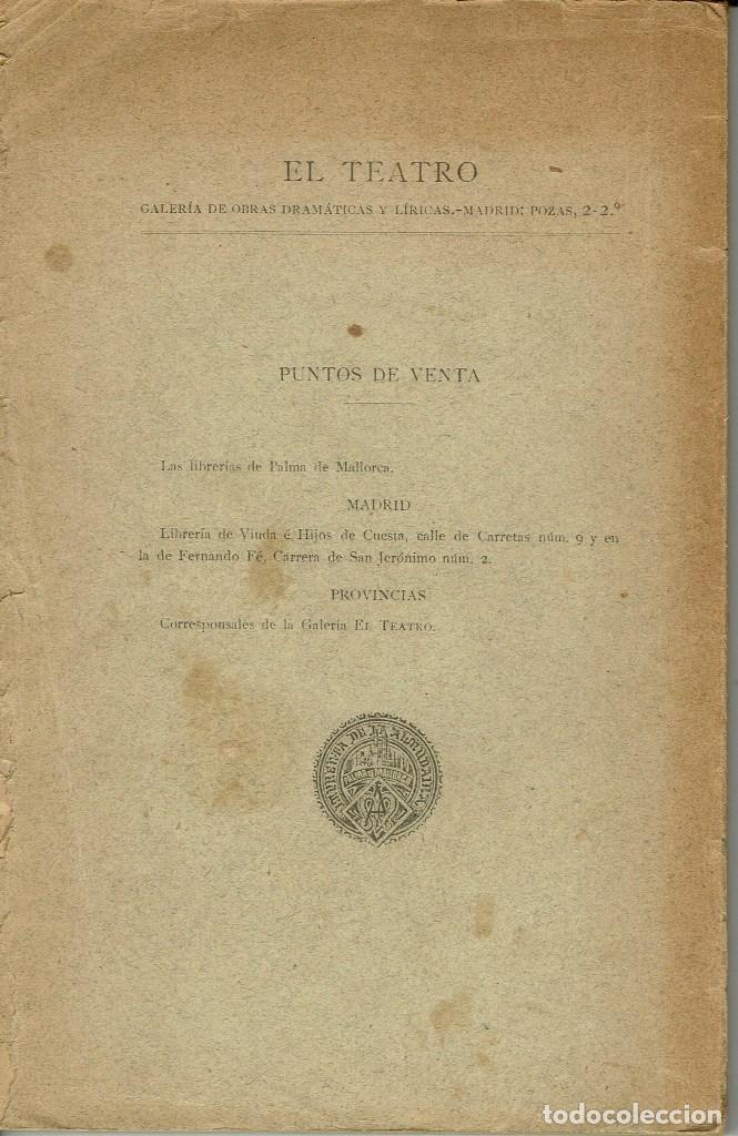 Libros antiguos: DON PEDRO DEL PUÑALET, POR JUAN PALÓU Y COLL. PALMA DE MALLORCA. AÑO 1901. (6.6) - Foto 2 - 134902130