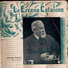Libros antiguos: SANTIAGO RUSIÑOL : MONOLEGS (ESCENA CATALANA, 1936) EN CATALÁN. Lote 134927226