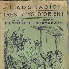 Libros antiguos: L'ADORACIÓ DELS TRES REYS D'ORIENT, PER ANDREU ROIG. PALMA DE MALLOR4CA. AÑO 1925. (5/7). Lote 135436294