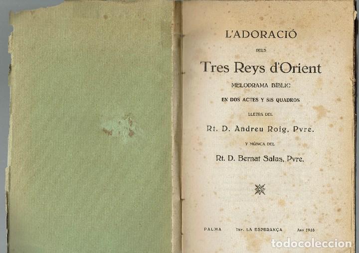 Libros antiguos: L'ADORACIÓ DELS TRES REYS D'ORIENT, PER ANDREU ROIG. PALMA DE MALLOR4CA. AÑO 1925. (5/7) - Foto 2 - 135436294