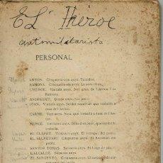 Libros antiguos: L'HEROE, PER SANTIAGO RUSIÑOL. AÑO 1903. (5/7). Lote 135510326