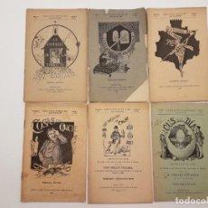 Libros antiguos: LOTE 6 SINGLOTS POETICHS, PITARRA, SIGLO XIX. Lote 135714119