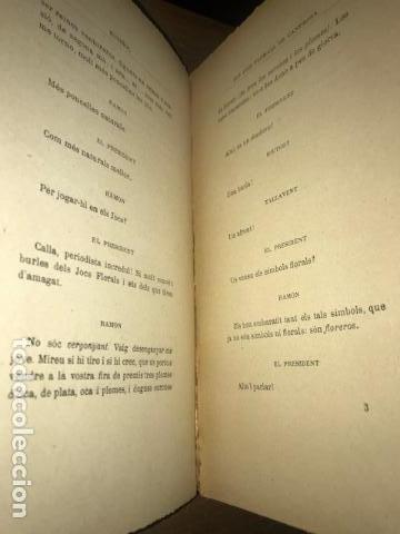 Libros antiguos: Els jocs florals de Canprosa. Comedia en un acte. Santiago Rusiñol. Teatre. Primera ed. 1902 - Foto 4 - 137275198