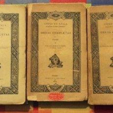 Libros antiguos: ADELARDO LOPEZ DE AYALA. OBRAS COMPLETAS. TEATRO. TOMOS I, II, IV ,V , VI -MADRID 1881-85. Lote 137372710