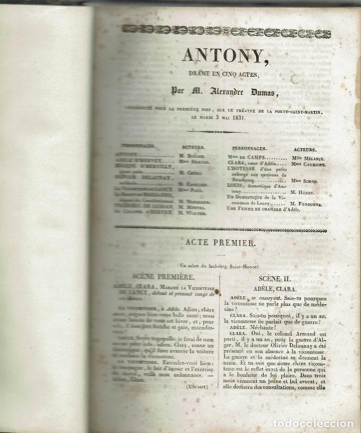 Libros antiguos: MAGASIN THÉATRAL. DIFFERENTES OEUVRES DE THEATRE EN FRANCAIS. AÑO 18??. (9/7) - Foto 7 - 137531634