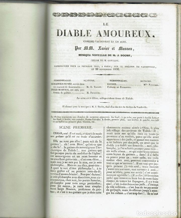 Libros antiguos: MAGASIN THÉATRAL. DIFFERENTES OEUVRES DE THEATRE EN FRANCAIS. AÑO 18??. (9/7) - Foto 20 - 137531634