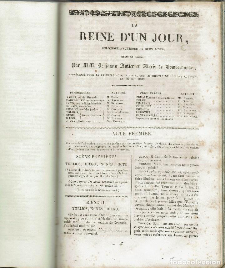 Libros antiguos: MAGASIN THÉATRAL. DIFFERENTES OEUVRES DE THEATRE EN FRANCAIS. AÑO 18??. (9/7) - Foto 22 - 137531634