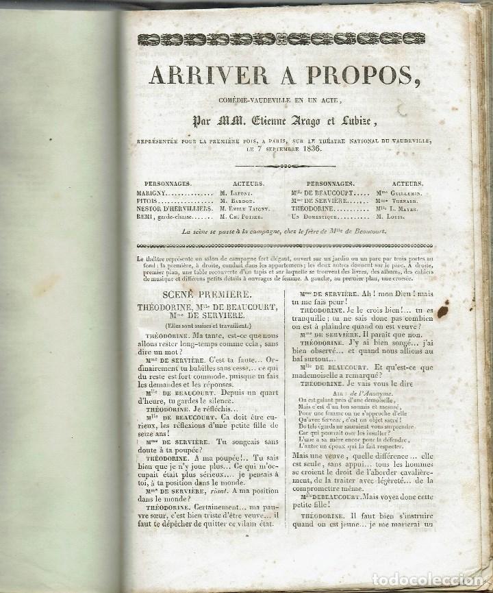 Libros antiguos: MAGASIN THÉATRAL. DIFFERENTES OEUVRES DE THEATRE EN FRANCAIS. AÑO 18??. (9/7) - Foto 25 - 137531634