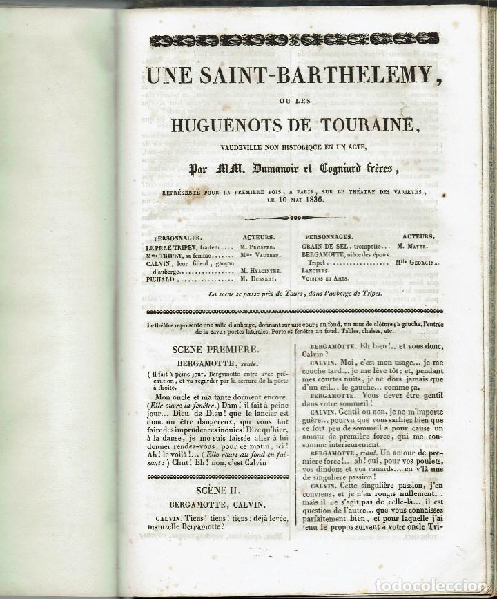 Libros antiguos: MAGASIN THÉATRAL. DIFFERENTES OEUVRES DE THEATRE EN FRANCAIS. AÑO 18??. (9/7) - Foto 30 - 137531634