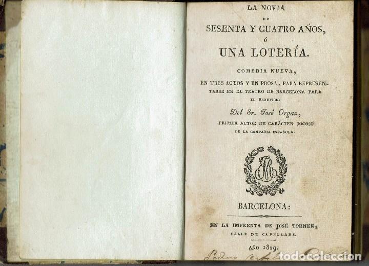 Libros antiguos: COMEDIAS. JOSÉ ORGAZ, P. F. WALNOM, GAETANO ROSSI. AÑO 1828/1829. (12.6) - Foto 4 - 137891106