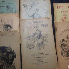 Libros antiguos: COLECCIÓN DE SEIS OBRAS TEATRALES SIGLO XIX EN CATALÁN. Lote 138992121