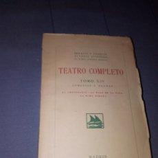 Libros antiguos: TEATRO COMPLETO TOMO XIV SERAFIN Y JOAQUÍN ALVAREZ QUINTERO ED MADRID 1928 - RUSTICA 1923. Lote 139244094