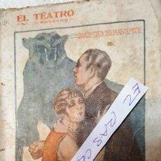 Libros antiguos: EL TEATRO MODERNO - LA COMIDA DE LAS FIERAS - JACINTO BENAVENTE -. Lote 140403862