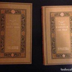 Libros antiguos: EL BURGÈS GENTILHOME - MOLIÈRE - TRAD. J. CARNER / VIDES D´ALEXANDRE I CÉSAR. TRAD. C. RIBA. Lote 141701878