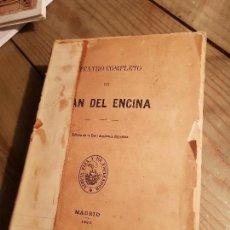 Libros antiguos: TEATRO COMPLETO DE JUAN DE LA ENCINA REAL ACADEMIA ESPAÑOLA MADRID 1893. Lote 143310390