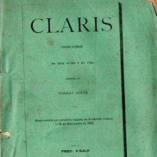 Libros antiguos: CONRAT ROURE : CLARÍS (EUDALT PUIG, 1879) EN CATALÁN. Lote 144500638